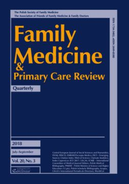 Zeszyt 3/18 Family Medicine & Primary Care Review