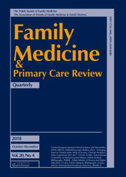 Zeszyt 4/18 Family Medicine & Primary Care Review
